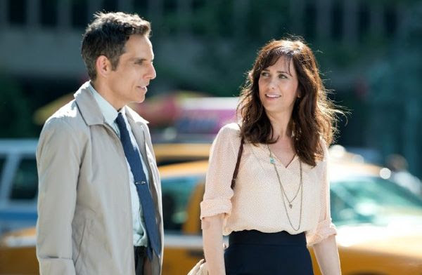 Walter Mitty wants to win the affection of his co-worker Cheryl Melhoff (Kristen Wiig) in THE SECRET LIFE OF WALTER MITTY.