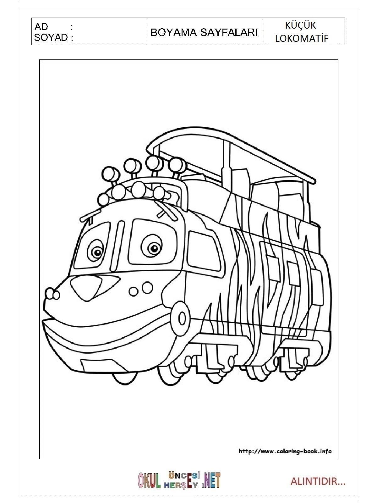 Küçük Lokomotif Boyama Sayfaları