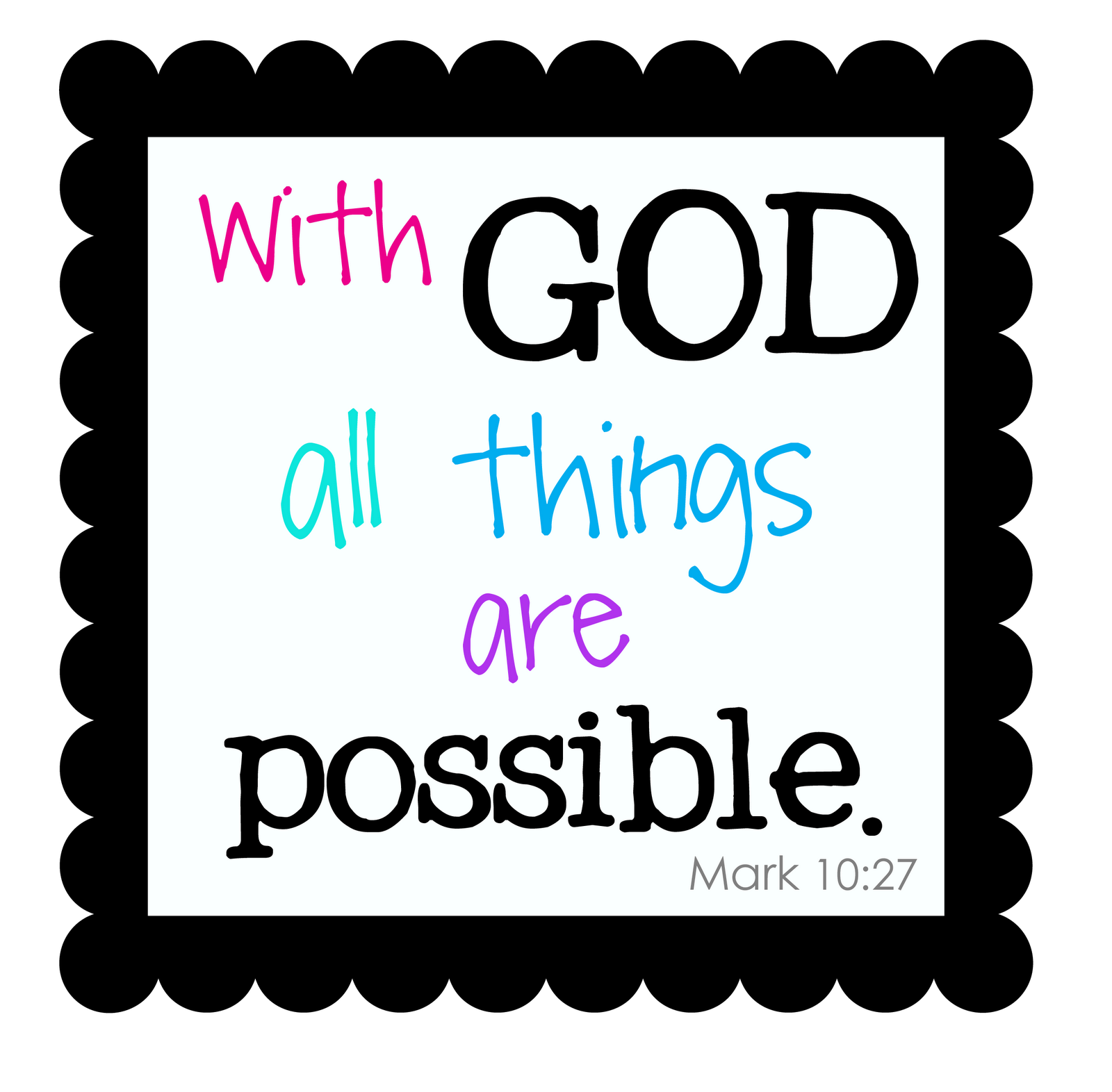 With God All Things Are Possible Education Quote Quotespicturescom