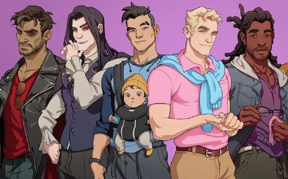 Dream Daddy launch woos Steam users screenshot