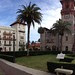 Panorama of the Casa Monica Hotel on the left and the Lightener Museum on the right