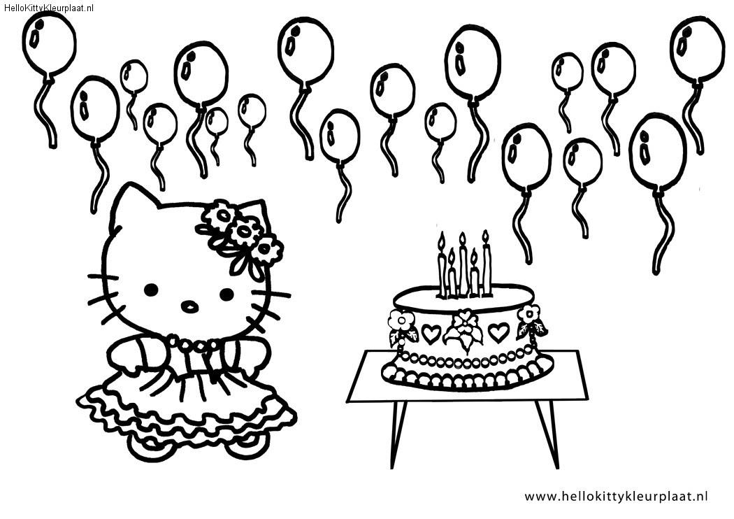 mewarnai oyeye kleurplaat happy birthday hello