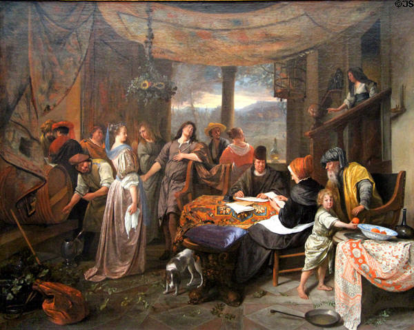 Marriage of Tobias & Sarah painting (c1673) by Jan Steen at Legion of Honor Museum. San Francisco, CA.