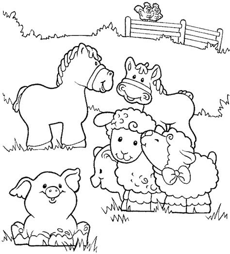 farm animals coloring pages getcoloringpagescom