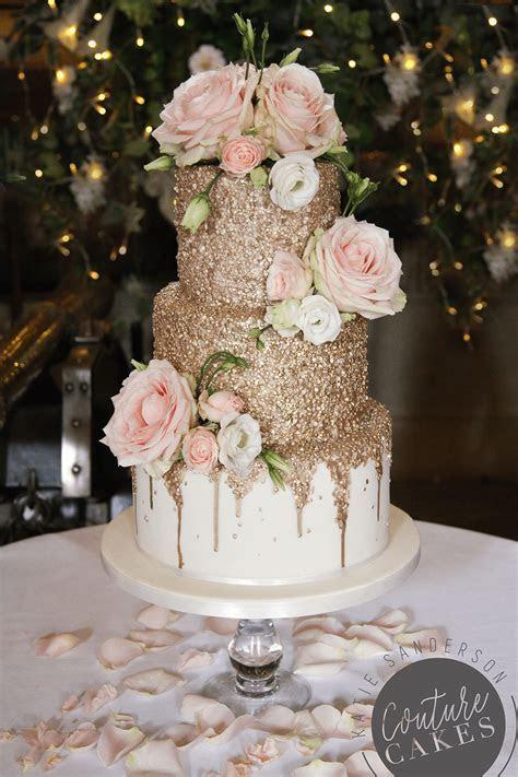 Metallic Wedding Cakes  Wedding Cakes East Anglia