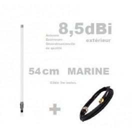 Antenne Wifi Omnidirectionnelle Exterieure Marine 55cm N F Cable 3m Inclus Multiboutik Votre Boutique Wifi Et 4g