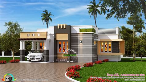 contemporary style small house kerala home design home