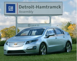 2011 Chevrolet Volt outside Detroit-Hamtramck assembly plant