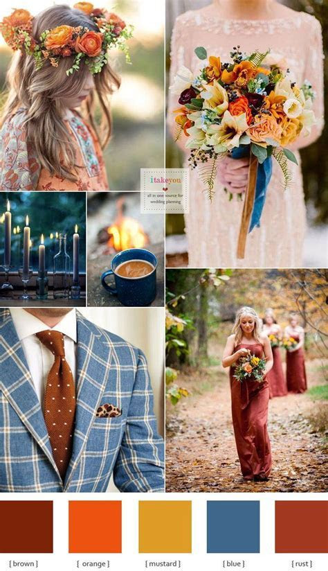 Gorgeous rustic boho wedding colors for fall colours
