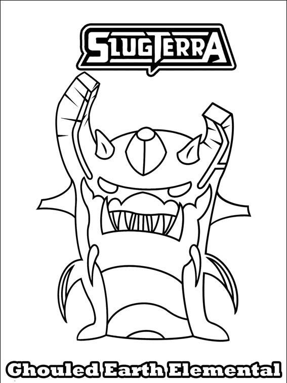 Bajoterra Dibujos Para Colorear Slug