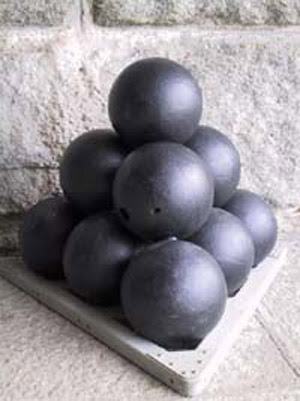 tetrahedral pile of cannonballs