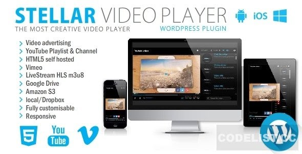 Stellar Video Player v2.2 - Wordpress plugin