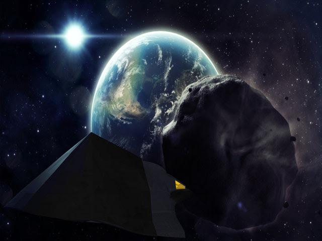 Tel'tak in avvicinamento ad un asteroide