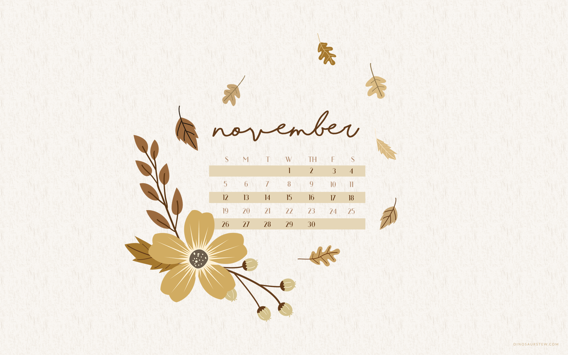November 2017 Calendar Wallpaper  For Desktop  Mobile Devices!