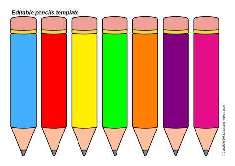 Editable pencils template | Free Classroom Printables | Pinterest ...