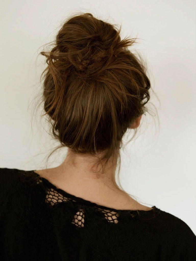 Messy French Bun A Cup Of Jo