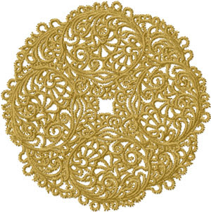 FREE Lacy Doily Machine Embroidery Design!
