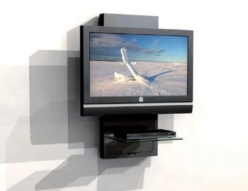 Mobile a parete porta lcd plasma tv con ripiano per dvd - Mobili porta tv meliconi ...