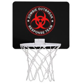 Zombie Response Team Mini Basketball Goal Walkers Mini Basketball Hoop