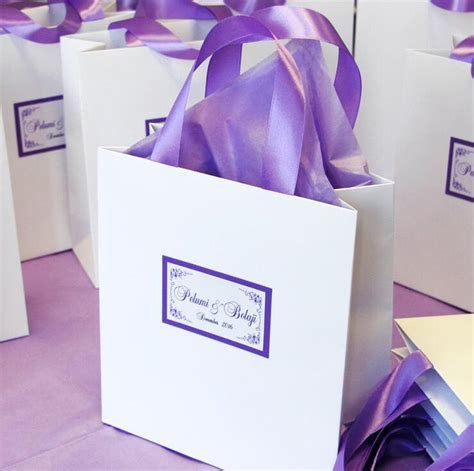 Elegant Wedding Welcome Bags Candy Gift Bags With Satin