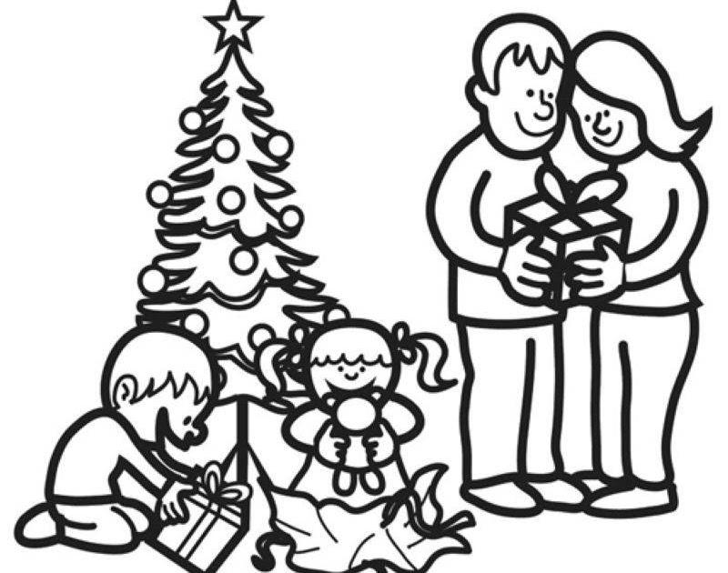 schule und familie ausmalbilder weihnachten - malvorlagen