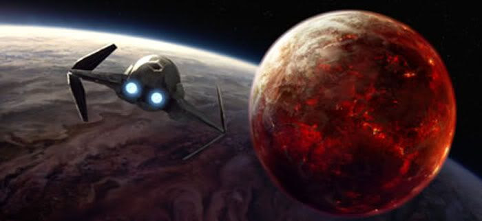 Anakin Skywalker arrives at the lava world (or moon) of Mustafar.  His mission: To eliminate the remaining leaders of the Separatists.