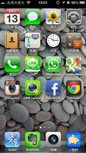 iOS系統真的很方便,原來的資料很方便就從iPhone4無痛轉移到iPhone5了