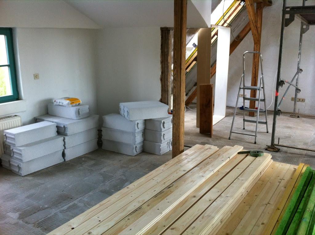 Holz und Gasbetonsteine