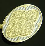 Durand platinum and gold cufflinks. (J9442)
