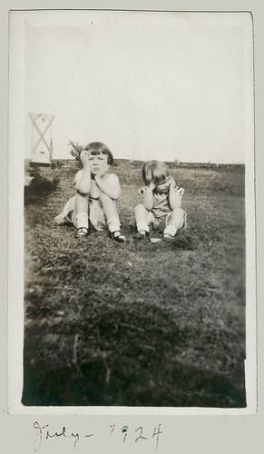 Two bored children