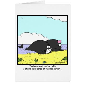 Beached Whales Greeting Card