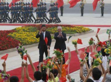 Temer é recebido por presidente chinês em cerimônia na Praça da Paz Celestial