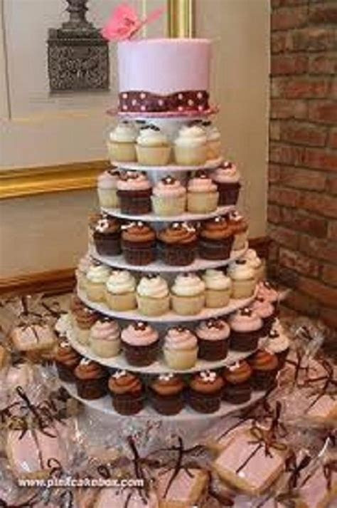 5 Tier White Round Wedding Acrylic Cupcake Stand Tree