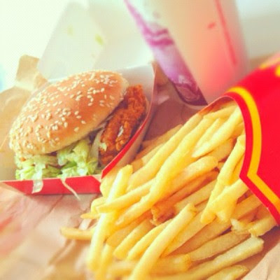Anyone with me thinks that McSpicy is not even spicy? :P  (Taken with Instagram at 💓home sweet home💓)