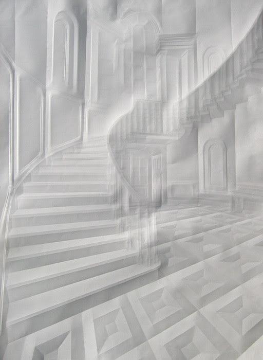 art papier pliage 01 Papier plié par Simon Schubert  art