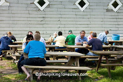 Enjoying Lunch at the Moonshine Store, Clark County, Illinois