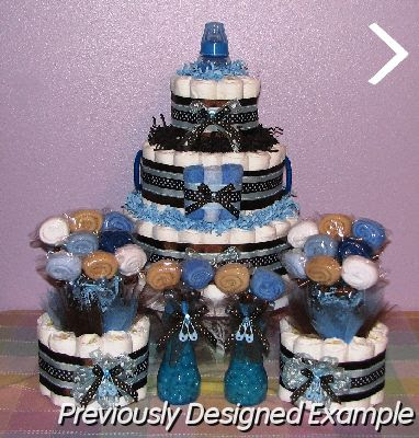 Baby Boy Diaper Cakesbaby Shower Table Decorations
