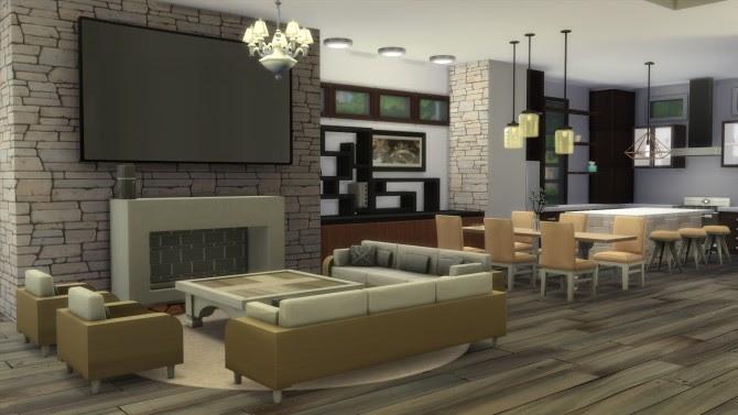 Modern Living Room The Sims 4 Wallpaper Idea