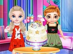 صنع كعكة آنا يونيكورن الصغيرة