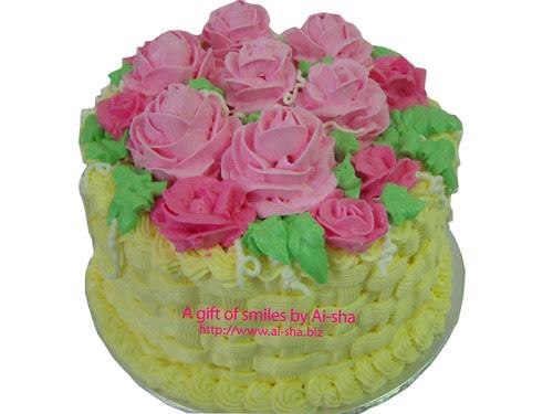 Garden of Roses Cake 001