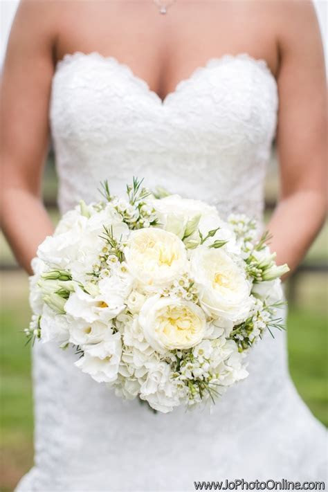 All white bride bouquet   Ivory and white flowers   rustic
