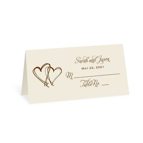 Ecru Design Choice Place Card   Invitations By Dawn