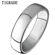 TIGRADE 4mm Mens Wedding Band Brushed Polished Titanium