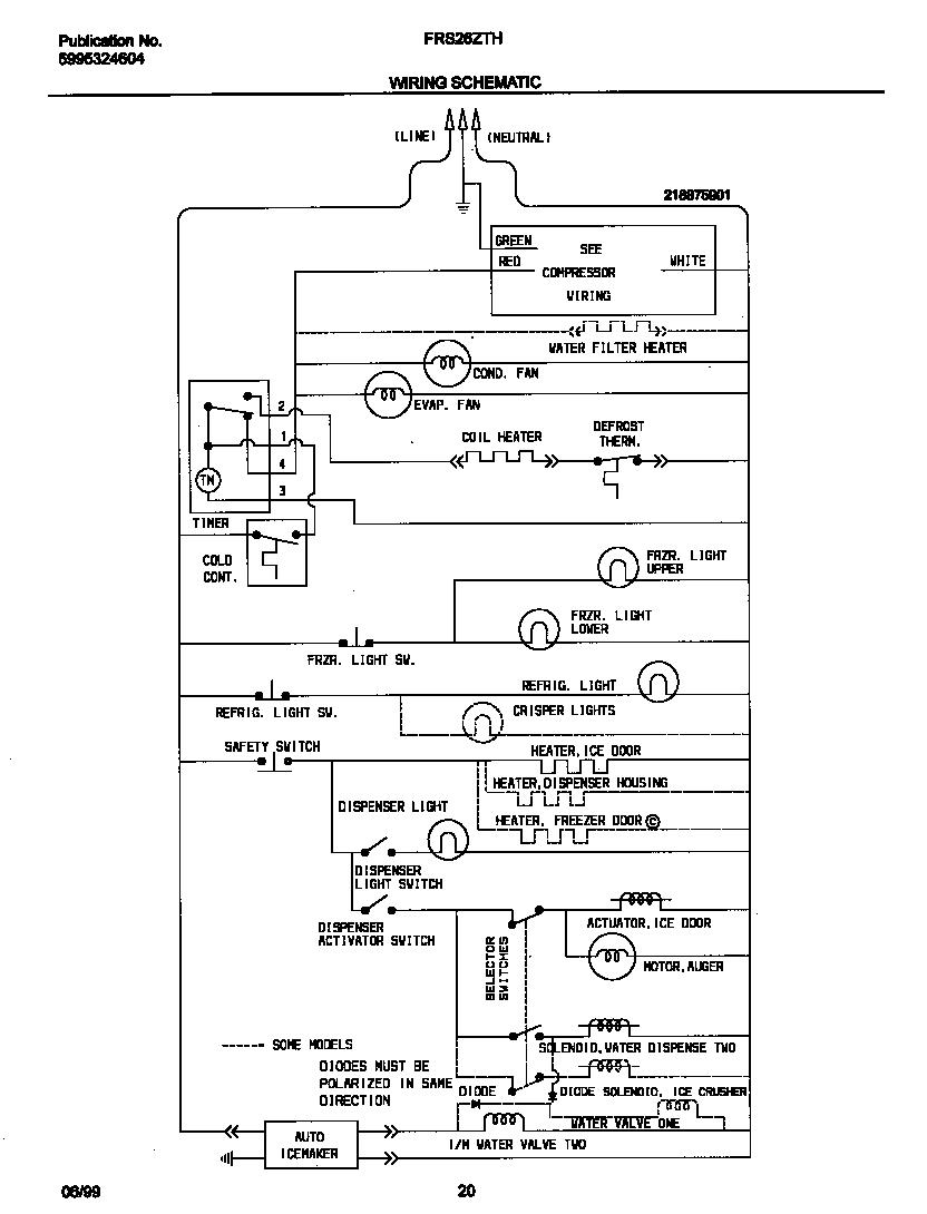 Wiring Diagram  34 Frigidaire Refrigerator Wiring Diagram