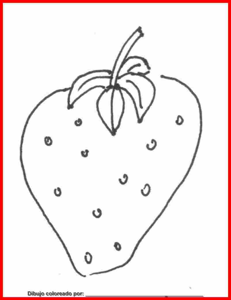 Dibujo De Frutas Para Colorear E Imprimir