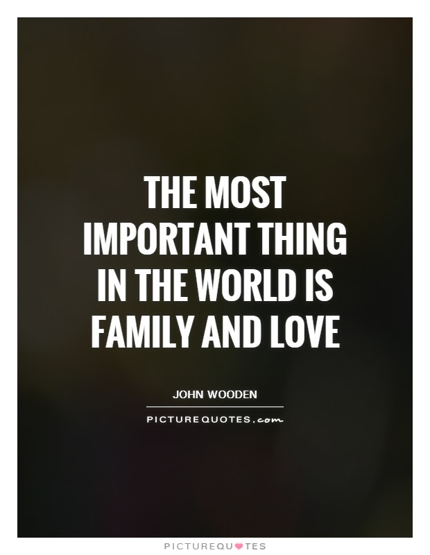 The Most Important Thing In The World Is Family And Love Picture
