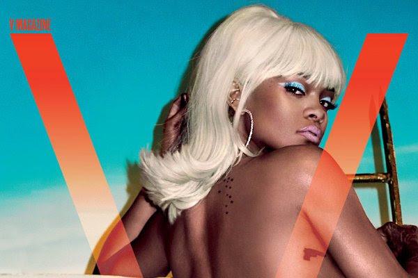 Rihanna Rocks Blonde Wig, Goes Topless for V Magazine