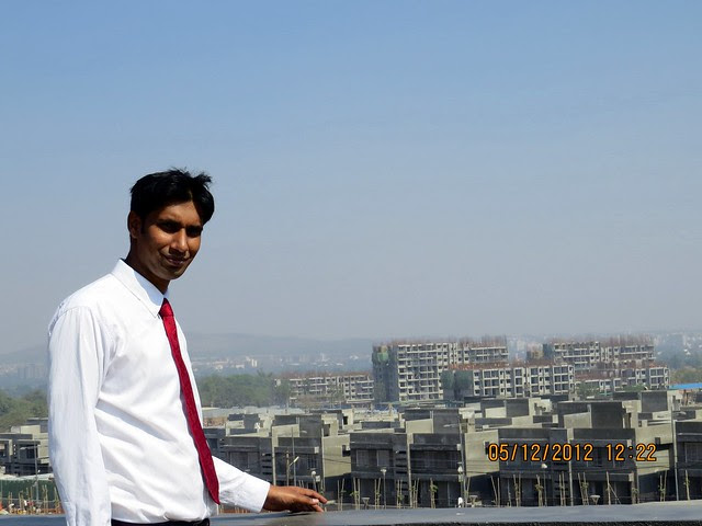 Kabir at the viewing point on the Patio of the Site Office  - Development in the 1st Year - Kolte-Patil Life Republic Marunji, Hinjewadi - Kasarsai Road, Pune 411057