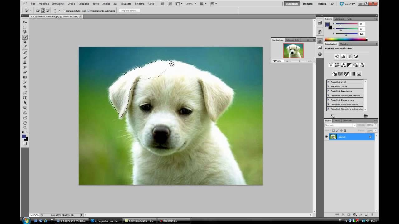 Colorare Lo Sfondo Con Photoshop Inserire Un Immagine