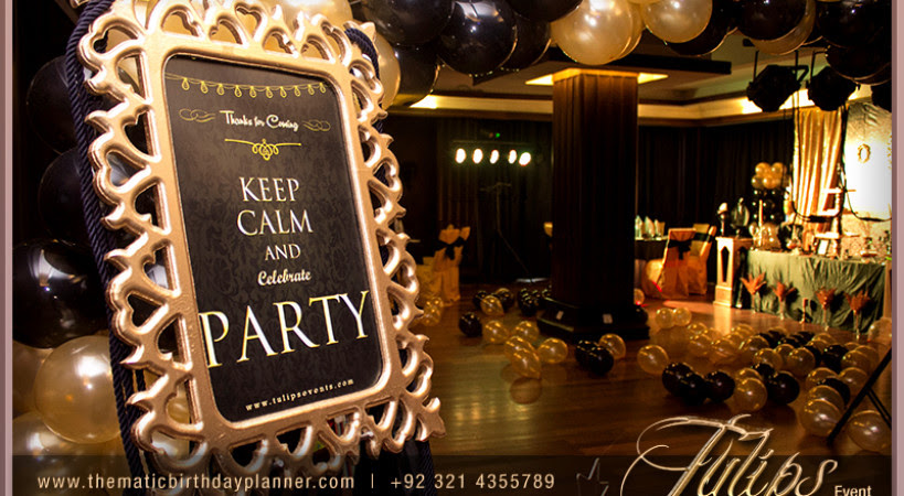 Black Gold Surprise Party Ideas In Lahore Pakistan